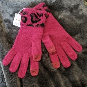 Coach Cranberry Ocelot Touch Gloves